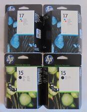 HP Tintenpatronen 2x 17 + 2x 15 C6625A C6615D 3-farbig und schwarz NEU & OVP
