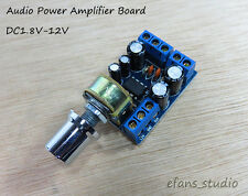 TDA2822M Mini 2.0 Channel 1W*2 Stereo DC3V 5V 6V 12V Audio Power Amplifier Board