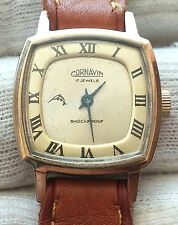 "CORNAVIN  17JEWELS  OLD 1970""  SOVIET WRISTWATCH GOLD PLATED"