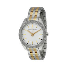 Armani Exchange Sarena Silver Dial Two-tone Stainless Steel Ladies Watch AX5519