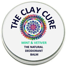 The Natural Deodorant Balm - Mint & Vetiver - 60g by The Clay Cure Co.