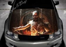 Evil Skull Full Color Graphics Adhesive Sticker Fit any Car Hood #238