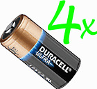 4 x DURACELL LITHIUM 123 CR123A DL123 Ultra Power Photo Batteries