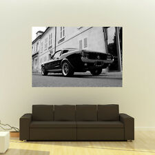 Ford Mustang Fastback Giant B&W Poster Muscle Car Huge Print 54x36 Inches