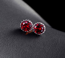 4ct CZ Stud Earrings brilliant cut Russian Cubic Zirconia men women gift bridal