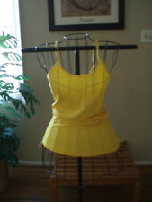 NEON YELLOW LONG LAYERiNG TUNiC CAMI SCOOP NECK CLEAVAGE TANK TOP