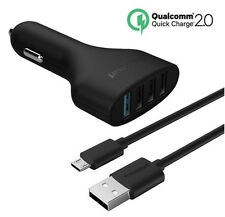 New Car Fast Charger 4 Port Usb Power  Au Adapter Cable iPhone Samsung