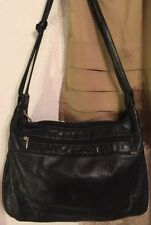 Black Soft Leather SAS Shoulder Bag