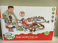 Large Wooden Train Track set *** 150 Peices**** compatible with leading brands