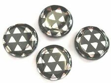 Argent 10 triangles plat coin-czech glass paon perle - 14mm (14pck27009)