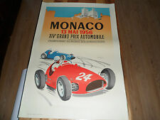 "LARGE 39"" x 26.5"" (approx) FABULOUS PRINT OF MONACO GRAND PRIX 1956 J RAMEL"