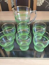 Vintage Frosted Glasses And Jug 1950-1960s