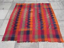 Old Tribal Nomadic Hand Made Persian Oriental Pink Wool MOJJ Kilim 173x165cm