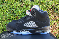 NIKE AIR JORDAN 5 RETRO V OG GS 6.5 Y 2016 METALLIC SILVER BLACK RED 845036 003