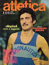 rivista ATLETICA ANNO 1972 NUMERO 1