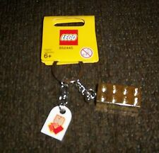 LEGO GOLD BRICK KEY CHAIN W/ 50TH. ANNIVERSARY TAG NEW ON CARD