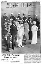 George V1.Queen.President Roosevelt.Union Station.Washington.Americana.USA