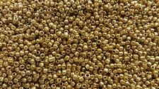 1.5mm (approx)glass seed beads x 20g   DOUBLE AMOUNT IN A TUBE (colour 01)GOLD