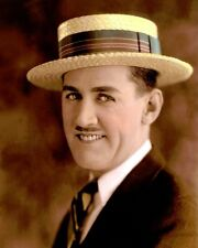 "CHARLEY CHASE COMEDIAN ACTOR SCREENWRITER (hat) 8x10"" HAND COLOR TINTED PHOTO"
