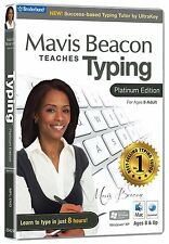 MAVIS BEACON TEACHES TYPING PLATINUM EDITION FOR WINDOWS 8, 7,  VISTA, MAC - NEW