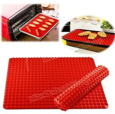 Durable Silicone Baking Mat Non-Stick Cooking Pyramid Design Oven Sheet Tray NEW