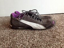 Puma Sport Lifestyle Speed Cat Shoes Gray Suede Purple Womens Size 10
