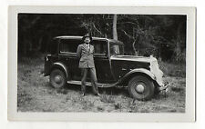 PHOTO - Voiture Automobile Auto Ancienne Homme Traction - Vers 1930 - Vintage.