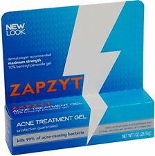 4 Pack Zapzyt Acne Treatment Gel 10% Benzoyl Peroxide Gel 1 Oz Each