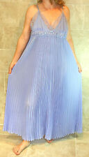 DREAMY! MADISON INTIMATES LONG PLEATED LAVENDER HUGE SWEEP NIGHTGOWN XL XXL NWOT