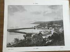 Antique 1903 St Aubin Hougue Ln St Peter JERSEY CHANNEL ISLANDS Photograph Print