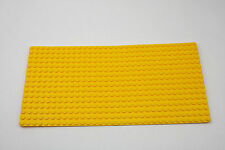 Vintage Lego 16 x 32 Thin Yellow Baseplate