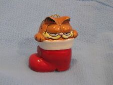 ENESCO GARFIELD CAT CHRISTMAS ORNAMENT  sitting in a boot