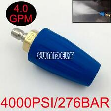 4.0 GPM Washer Turbo Head Nozzle for High Pressure Water Cleaner 4000PSI Blue
