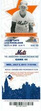 2013 Mets vs Diamondbacks Ticket: Cody Ross HR/Josh Satin hit his 1st career HR