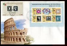 26358) ITALIA 1985 FDC ITALIA'85 BF(n.1+n.3) - S/S Stamps on Stamps