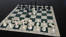 NEW large chess set with roll up vinyl board, full size tournament chess pieces