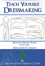 Teach Yourself Dressmaking 20 Lessons to Design Art Deco Dresses Printable On CD