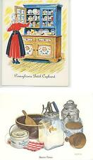 VINTAGE BUTTER MOLD PRESS PRINT &  LIVER DUMPLING SAUSAGE PATTY RECIPE NOTE CARD
