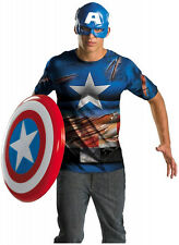 Adult Mens Marvel CAPTAIN AMERICA Easy Costume NEW XL (42-46) Avengers 11633D