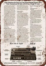 "1976 Apple I Computer 10"" x 7"" Reproduction Metal Sign"