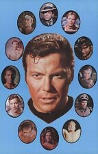 STAR TREK POSTER ~ TOS KIRK CIRCLES 22x34 TV Original Series William Shatner