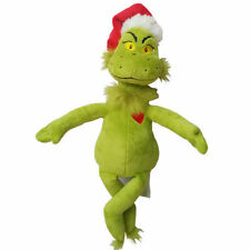 """15""""/39cm Dr Seuss How the Grinch Stole Christmas with Santa Hat Plush Toys New"""