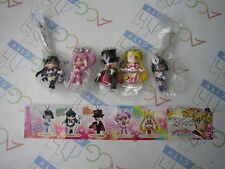 Sailor Moon 20th Anniversary Swing Keychain Figure 3 Gashapon Full Set Bandai