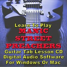 MANIC STREET PREACHERS Guitar Tab Lesson CD Software - 80 Songs
