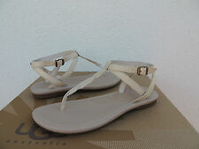 UGG AUBRAY FLESH/ NUDE LEATHER ANKLE WRAP SANDALS, US 9/ EUR 40/ UK 7.5 ~NIB