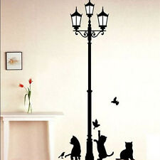 Removable Black Lamp Cat Bird Wall Sticker Decals Home DIY Decor Vinyl Art Decor