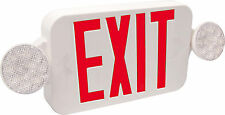 LED Combination Exit and Emergency Light unit Red- UL Listed, Beghelli-USA