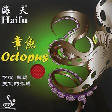 HaiFu Octopus red Long Pips-Out Table Tennis Rubber Without Sponge OX