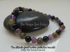 The Ghost Hunters Protection Blend 6mm Round Bead Stretch Bracelet ~ Gemstone
