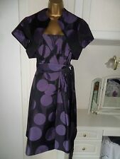 QUALITY LINED 50,S ROCKABILLY DRESS/BOLERO BY DEBUT SIZE UK 16 BUST 40""